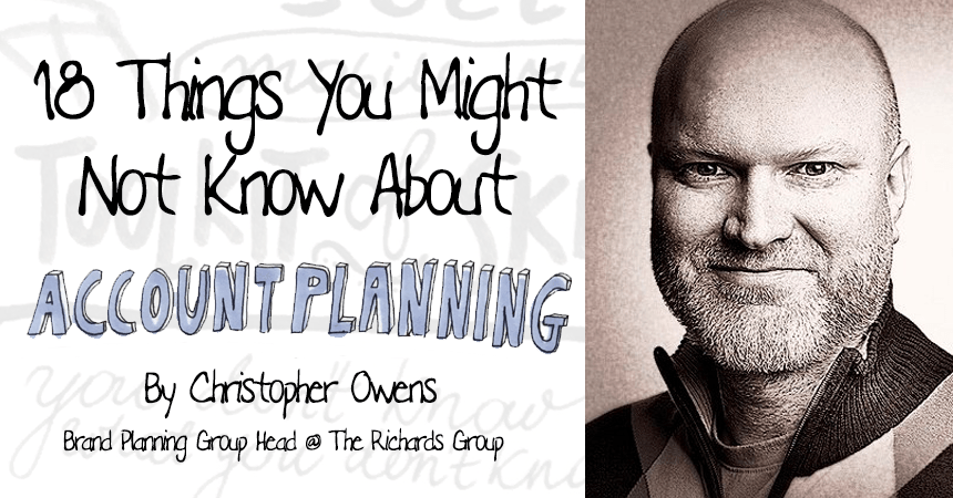 18 things account planning