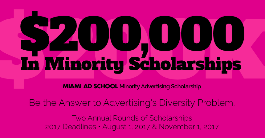 Apply Now for $200,000 in Minority Advertising Scholarships