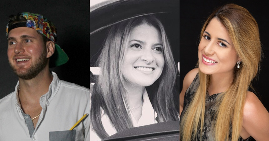 L to R: Dave Adams, Anais Benoudiz and Ariana Pierr.
