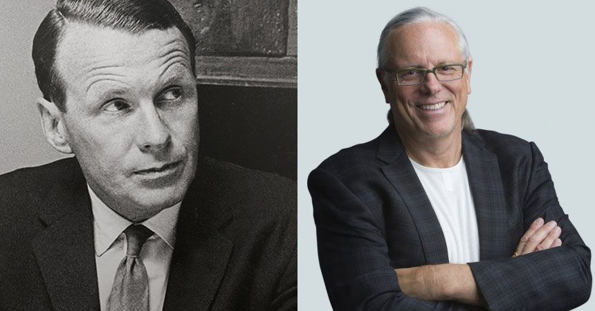 David Ogilvy and Jeff Goodby, Founders of the legendary agencies that bear their names.