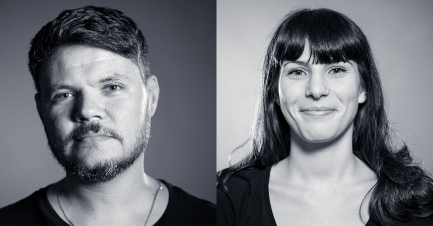 Senior Creatives Frank Garcia and Giulia Magaldi of GUT. (Miami Ad School Class of 2014 and 2015 respectively.)