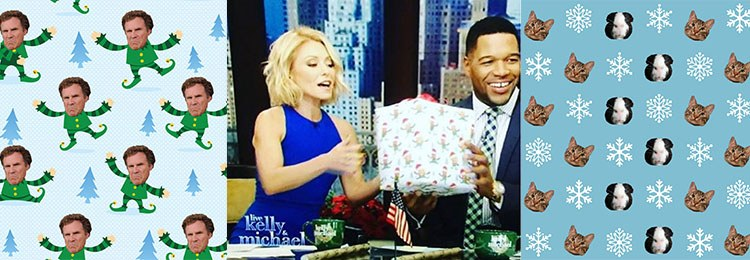 Gift Wrap My Face was even featured on Kelly u0026 Michael! Are you ready to show your creative side? Apply to Miami Ad School today!  sc 1 st  Miami Ad School & Regular Holiday Gift Wrap is soooo 2015 - Miami Ad School