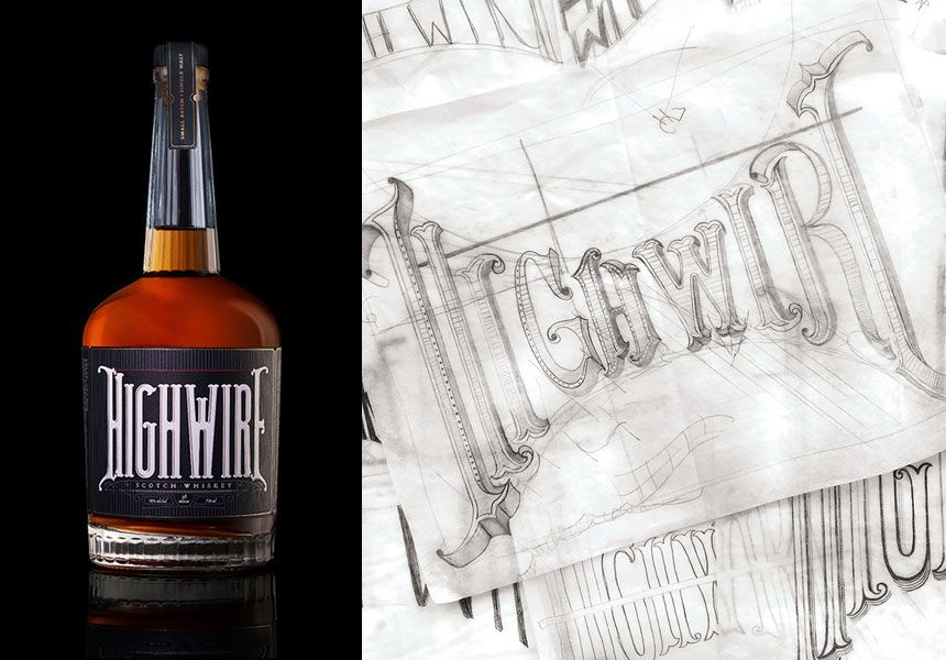 Carter's Gold Graphis New Talent Annual-Winning package design for Highwire Scotch Whiskey