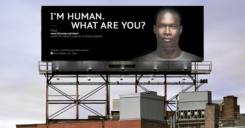 I'm Human Outdoor Activation Billboard