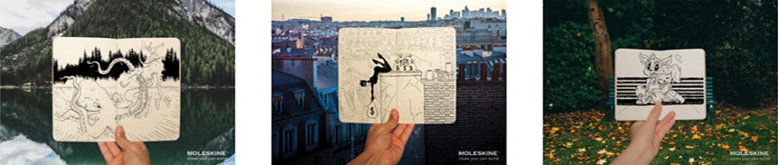 Moleskine– Imagine • Gold Winner, Golden Award of Montreux | Stefanie Berkmann, Boris Schreurs; Art Directors and Davide Cocchiara; Copywriter