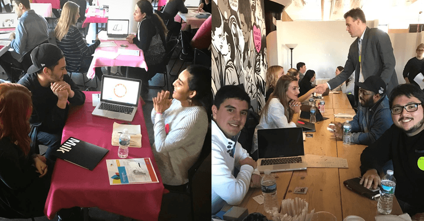 Recent grads had a dozen interviews each in a single day at Miami Ad School's Portfolio Review in New York City.