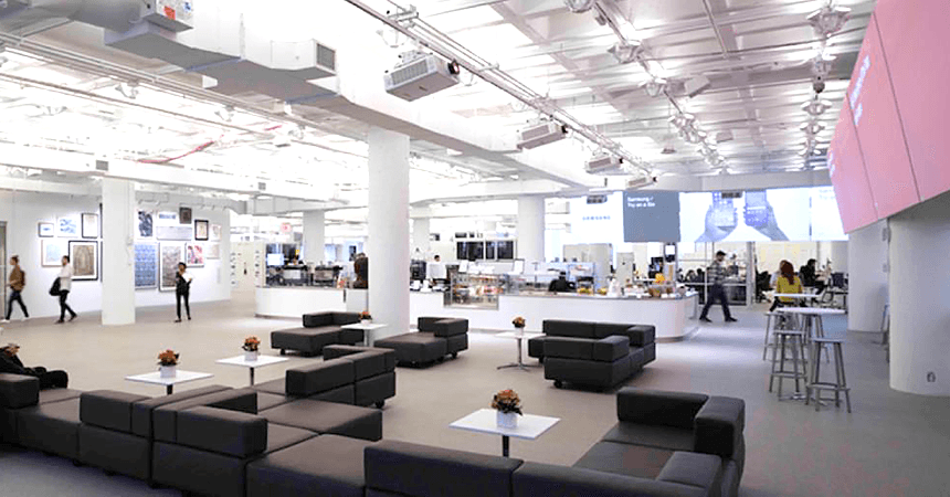 "The New York office of R/GA moved into a revolutionary, 200,000 sq. ft. space billed as the ""World's Most Connected Office."""