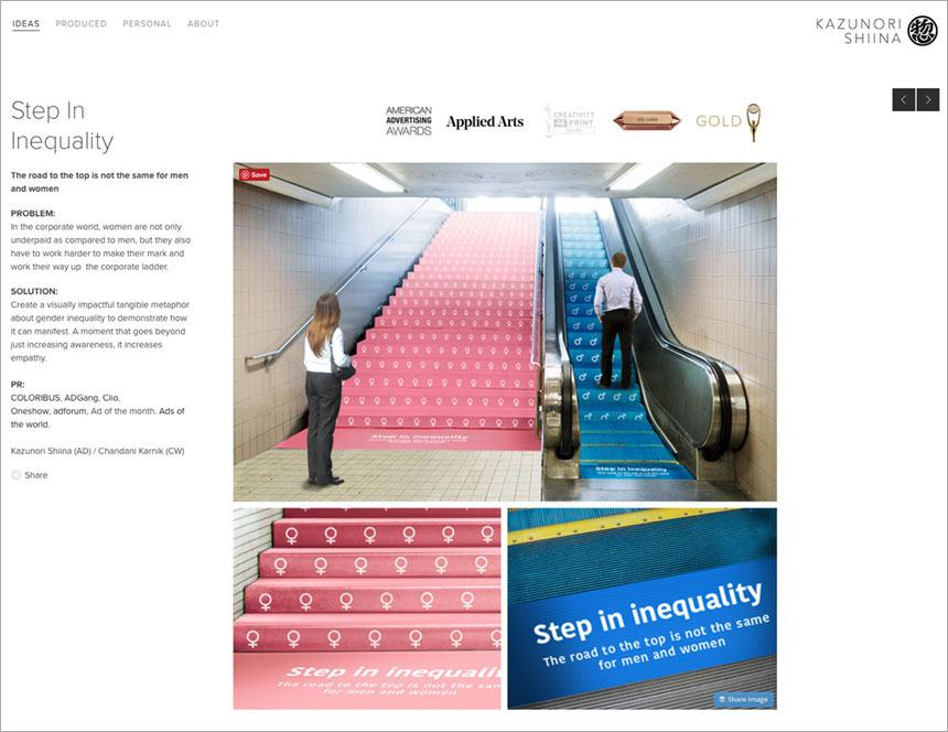 Kazunori Shiina does a great job showcasing his award-winning Step in Inequality project.