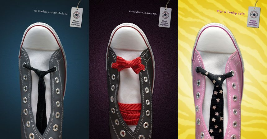 Print campaign for Converse's Chuck Taylor sneakers.
